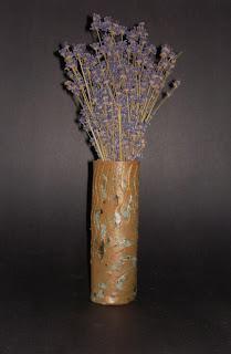 lavender-in-ceramic-handmade-vase-with-crystal-glaze