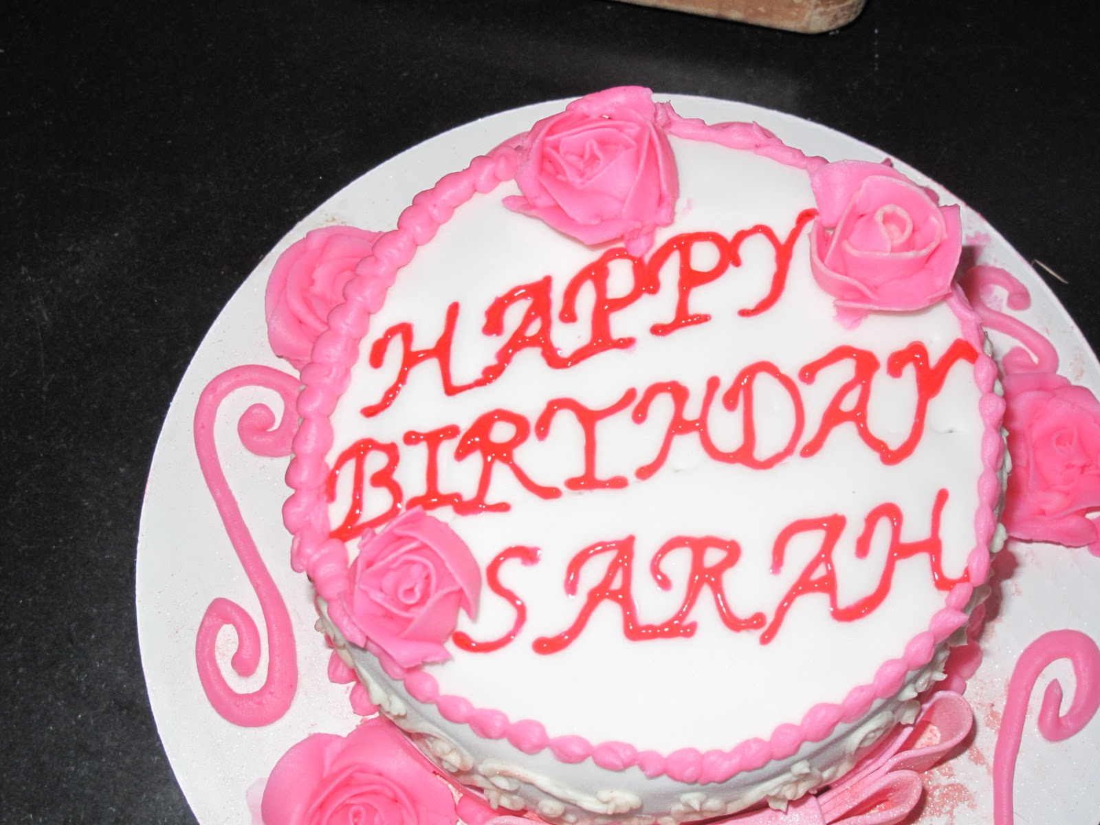 happy birthday sarah cake