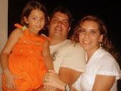 Maria Clara minha filha, eu e minha esposa Rouse