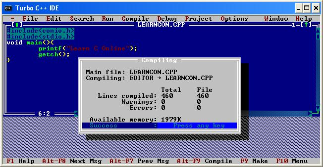 Install turbo c version 3 0 how to compile and run c Online compiler turbo c