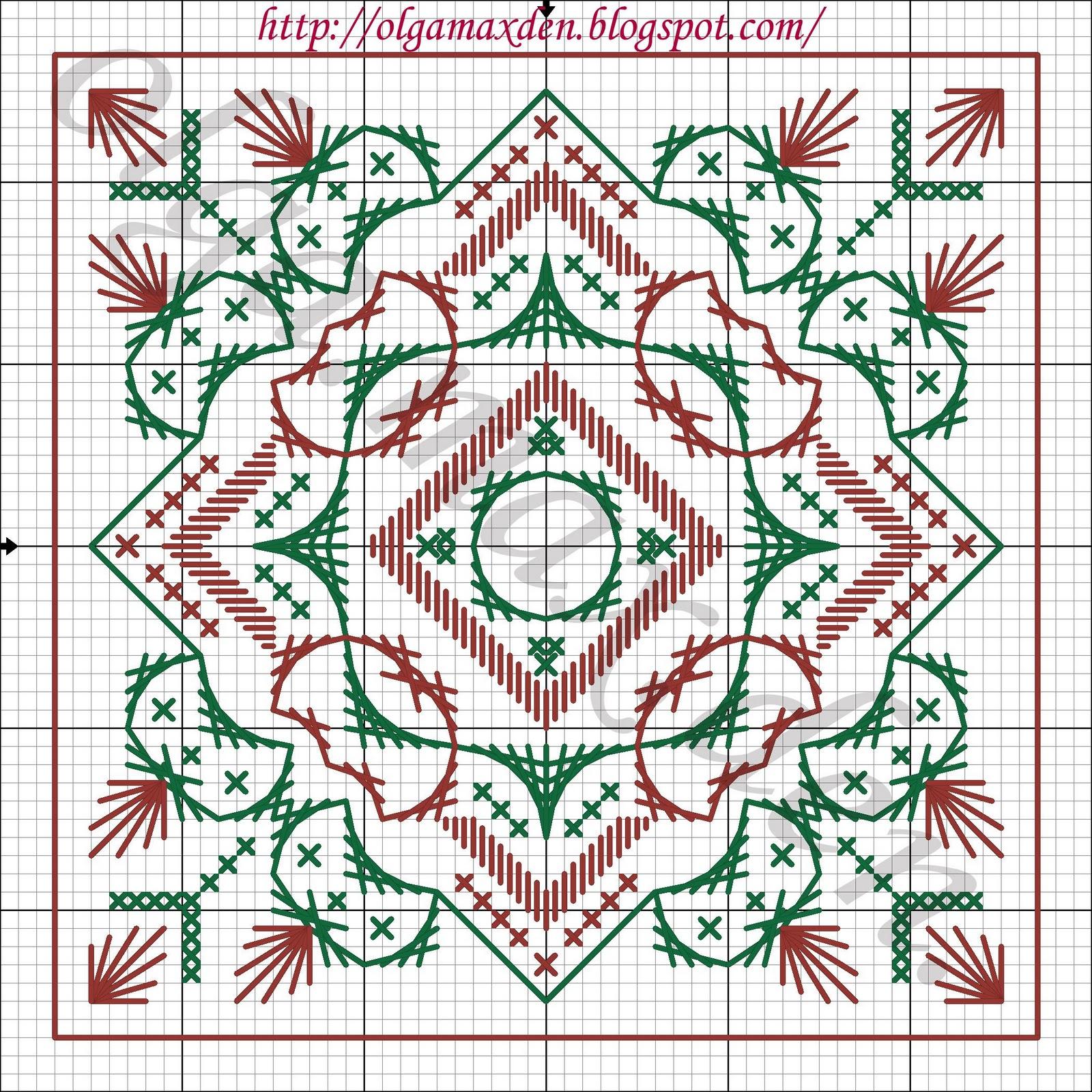 Схема для вышивки шовчиковая 30