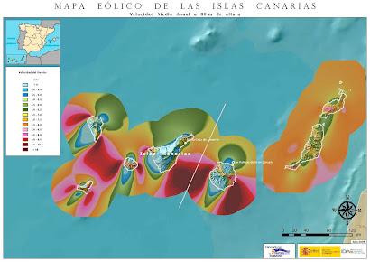 Mapa Eólico de Canarias
