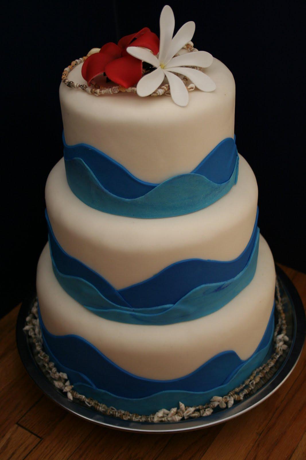 Blue Moon Cakes Ocean Overlap Fondant Cake