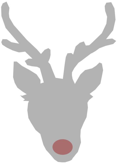 reindeer head outline