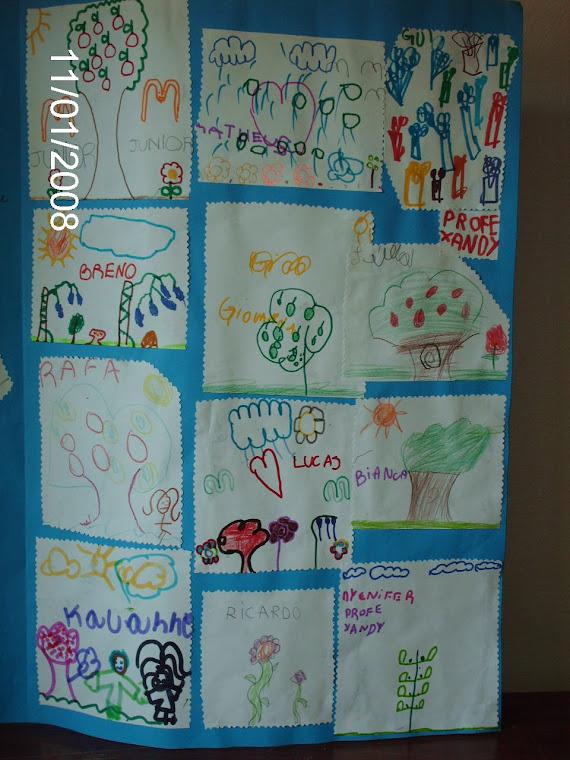 Uma homenagem dos alunos do 1º ano da Escola Nestor Moura Jardim.