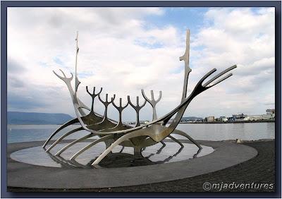 Reykjavik Viking Boat Sculpture