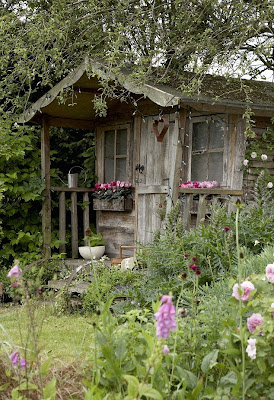 My sweet savannah pretty potting sheds for Pretty garden sheds