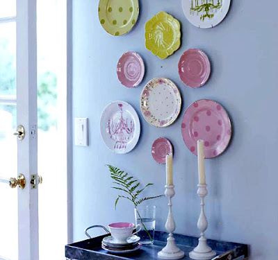 People tend to donate their unused sometime vintage plates and you can really score a bargain! & My Sweet Savannah: Decorating with Plates