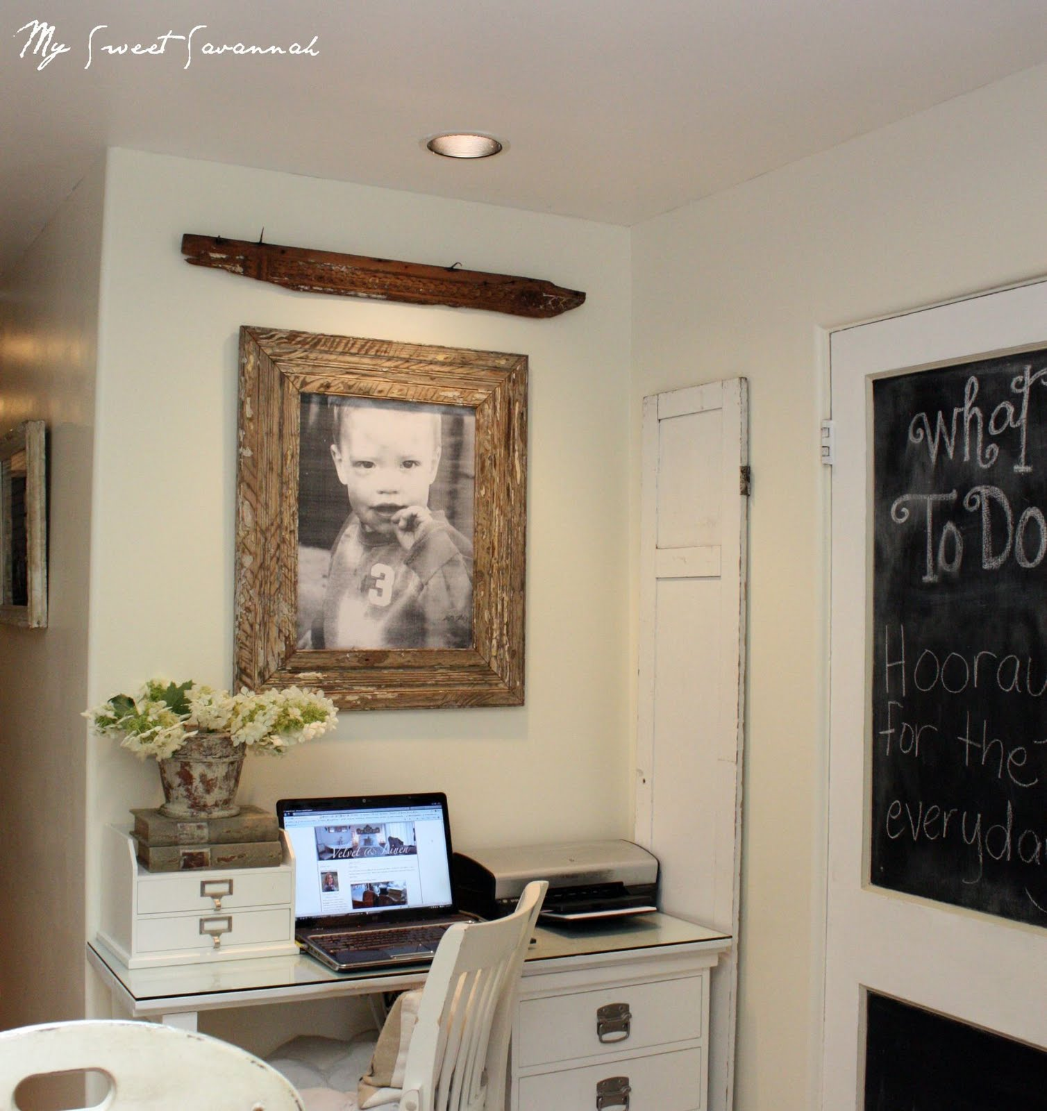 My sweet savannah where i blog from for Kitchen office nook