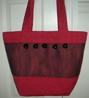 Red and Black tote purse