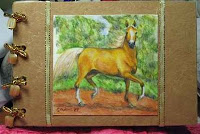 Palomino Horse Business Card Organizer
