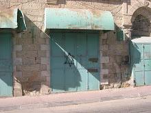 Abandoned shop, Shuhada Street, Hebron