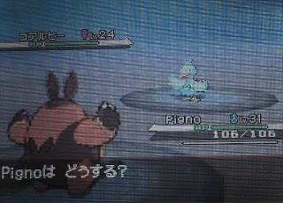 Koaruhie, the duck dyed blue Pokemon.