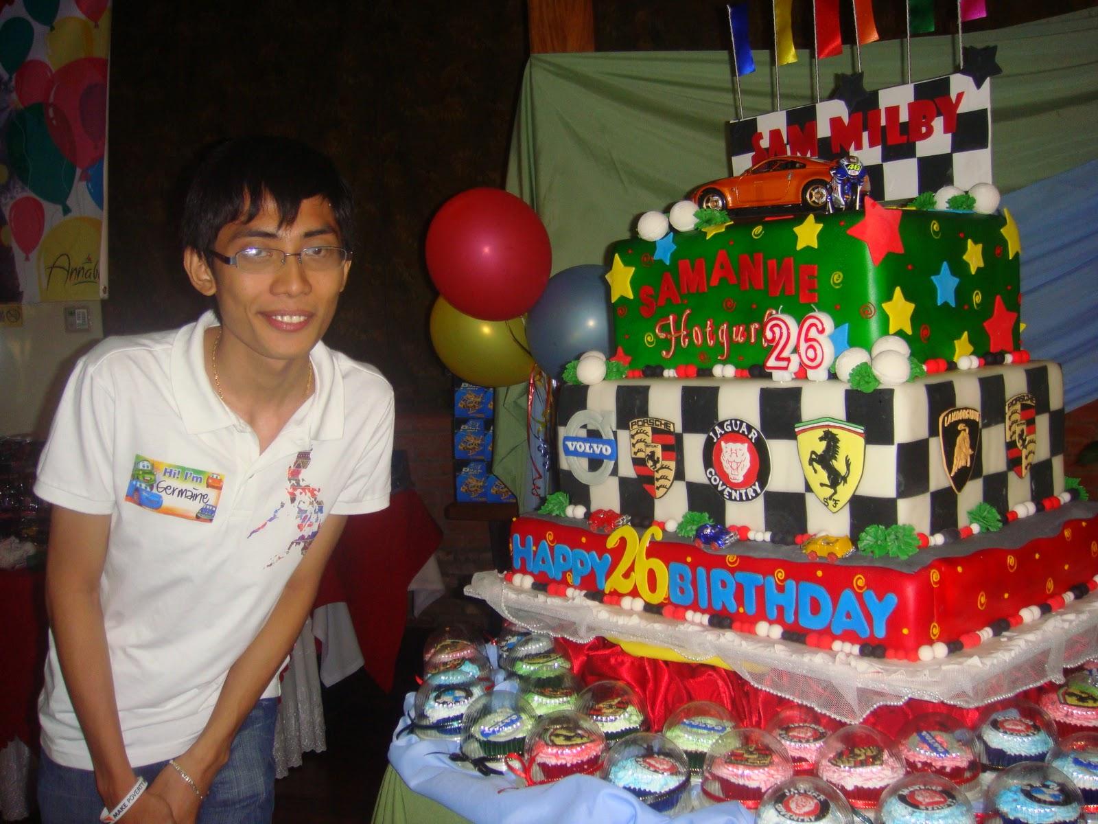Van Germaine Uchi Sam Milbys Huge Birthday Cake