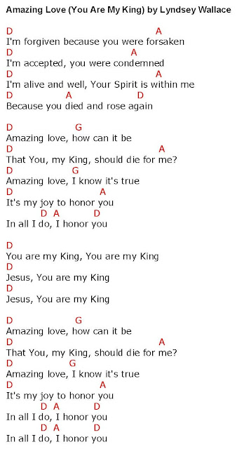 Amazing Love You Are My King Lyrics And Chords Faith And Music