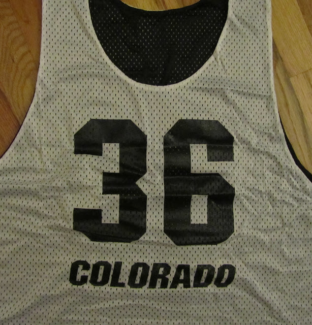 Colorado Buffs lacrosse practice pinnies