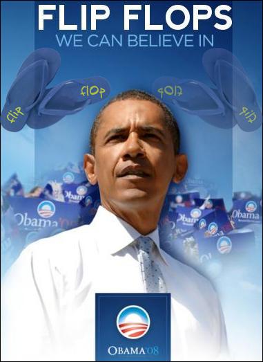 Obama flip flop