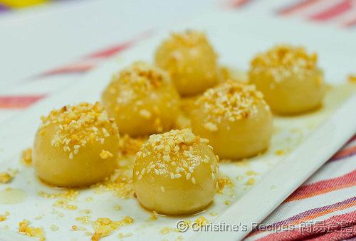 Glutinous Rice Balls With Peanuts Amp Sesame Seeds