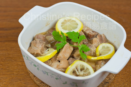 檸檬香檳炆排骨 Stewed Pork Ribs with Lemon and Champagne02