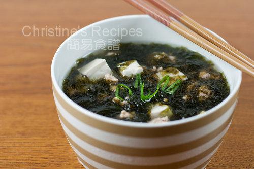 紫菜豆腐肉鬆湯 Seaweed Tofu Soup02
