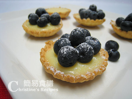藍莓朱古力撻 Blueberry & White Chocolate Tarts