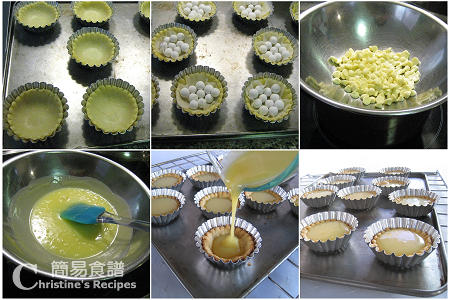 藍莓朱古力撻製作圖 Blueberry & White Chocolate Tarts Procedures