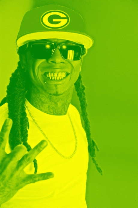 lil wayne green e1296751176755 Lil Wayne Green & Yellow (Green Bay Packers)