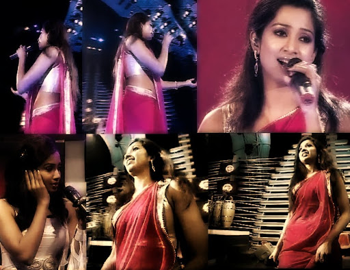 Shreya Ghoshal Transparent Saree