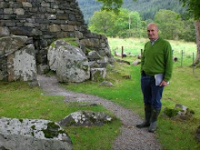 Alastair at an Iron Age  Pictish 'broch'.