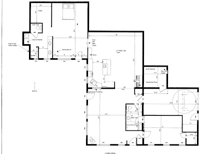 Arant earth sheltered home floor plan for Earth sheltered floor plans