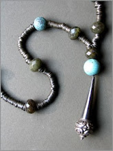 Silver,turquoise,labradorite