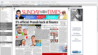 pressdisplay the times of india