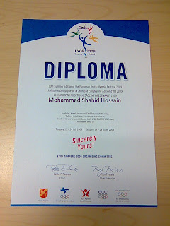 10th EYOF volunteer diploma