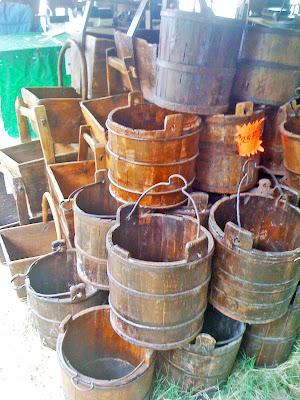 vintage wooden buckets, canton