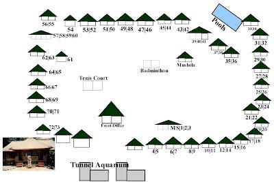 Peta lokasi cottage di Pulau Putri