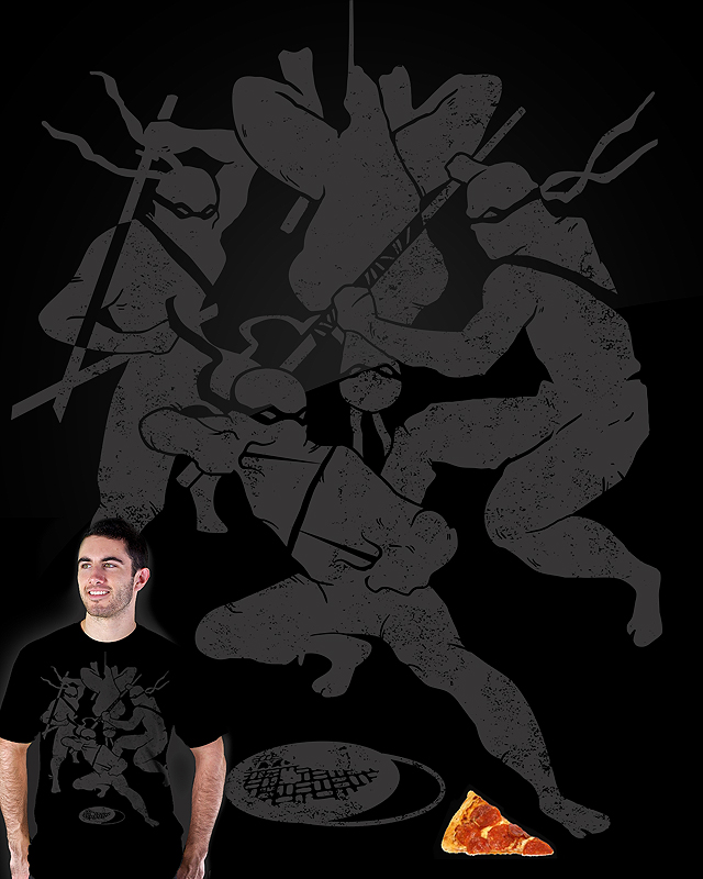 teefury submission Ninjas!! Get this shirt! on black