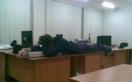 Durmiendo en el trabajo