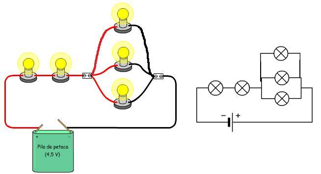Circuito Que Tenga Un Interruptor Una Pila Y Una Bombilla : Tecno electricidad conexion mixta o serie paralelo