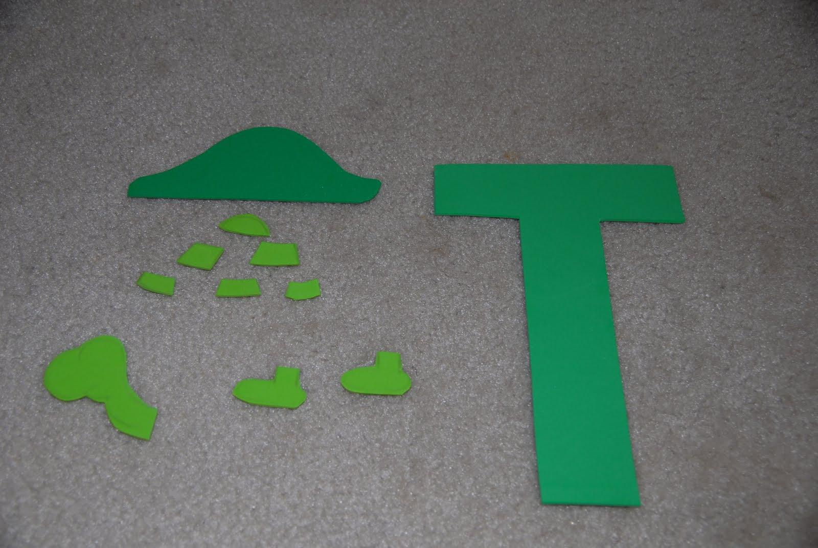 Mc TOT TOT School Letter T Craft
