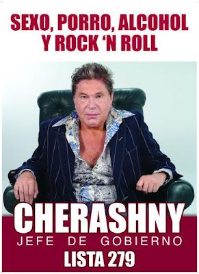Afiche de campaña de Guillermo Cherashny