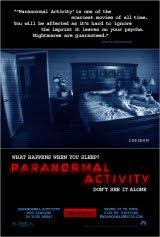 Afiche de 'Actividad paranormal'