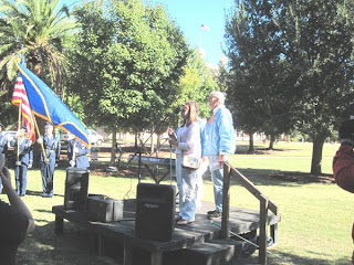 Shelby sings National Anthem for White Cane Day, 2010