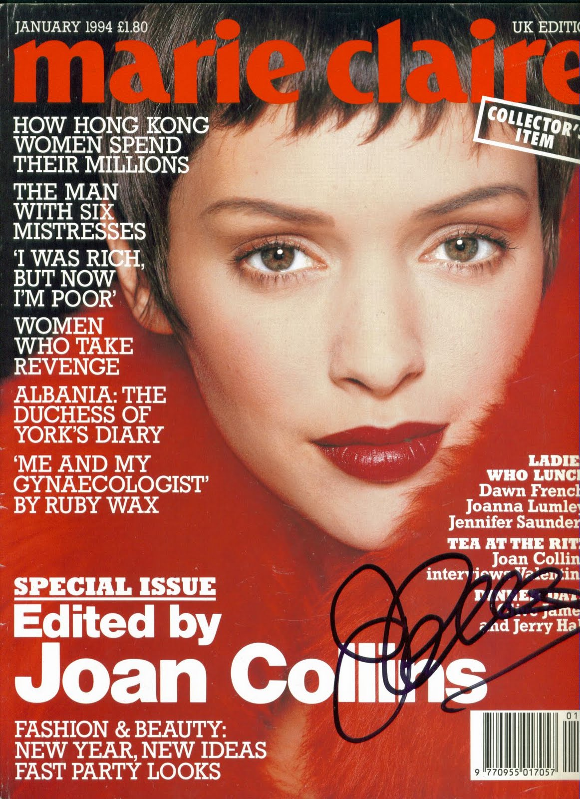 legendary dame magazine flashback marie claire january 1994. Black Bedroom Furniture Sets. Home Design Ideas