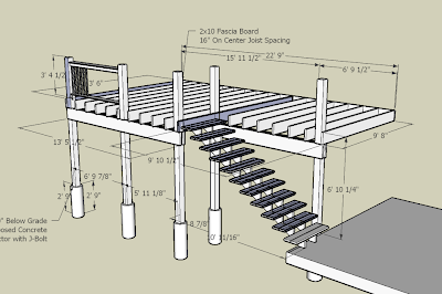 Jacob gable deck plans using google sketchup for Sketchup deck design