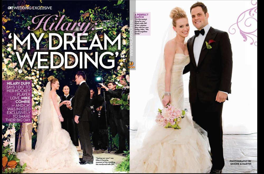 hilary duff wedding pics. Hilary Duff Wedding Snaps pics