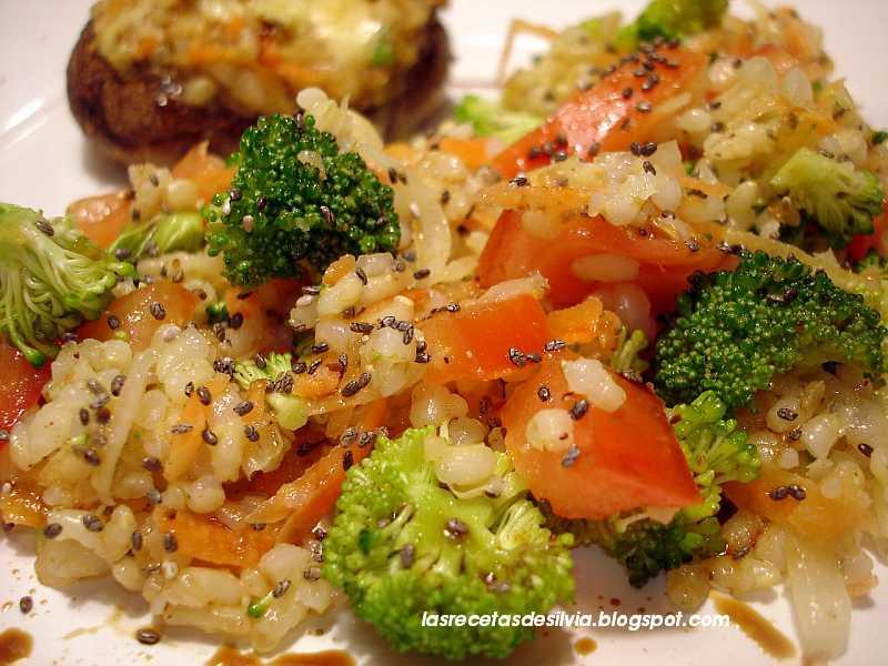 Las recetas de silvia arroz con vegetales y queso for Verduras francesas