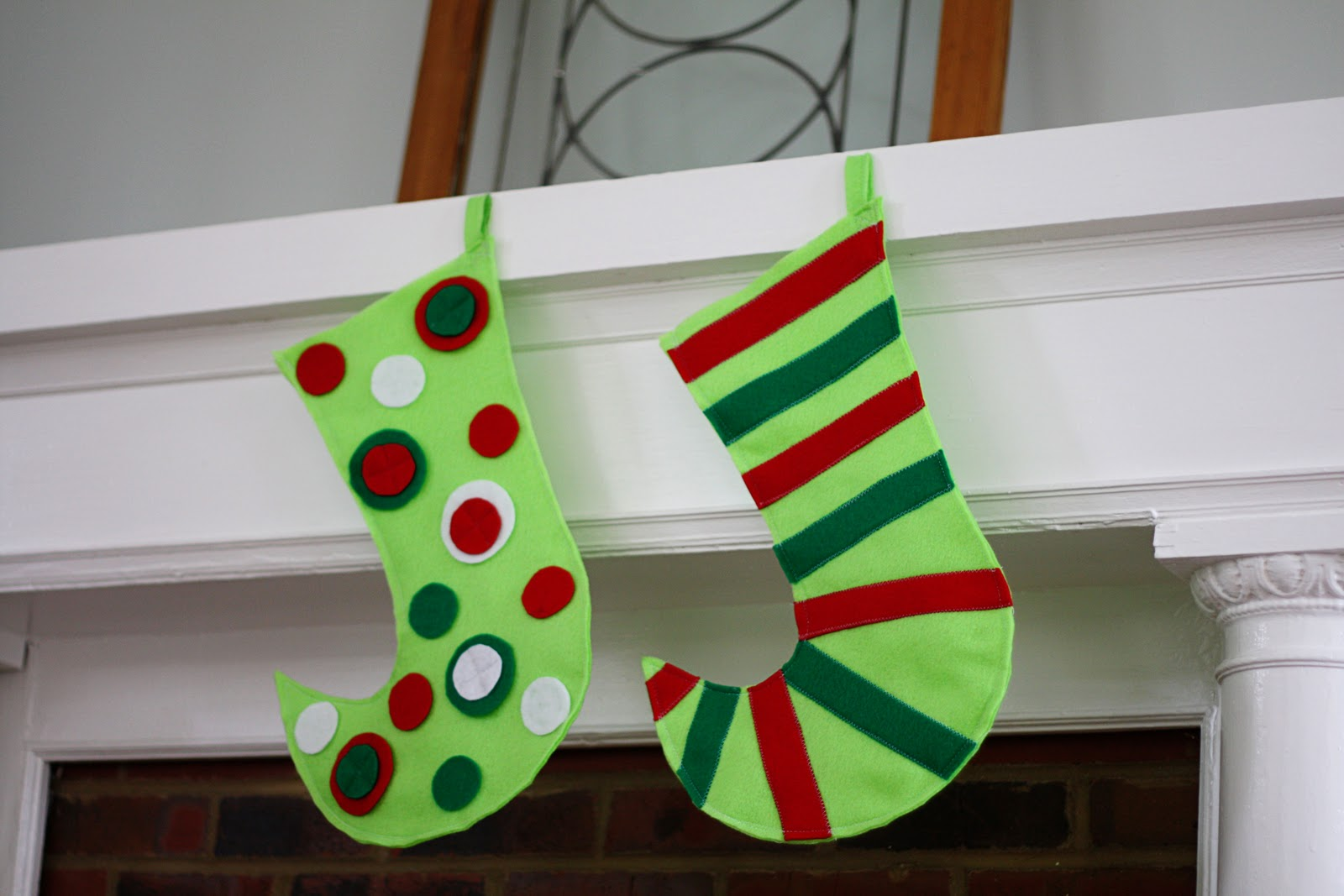Felt Gift Stockings Holiday Craft