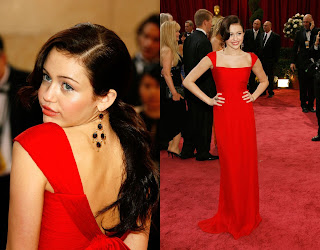 MileyCyrus Oscars 2008 Red Carpet Recap