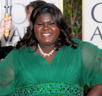 Gabourey+Sidibe+2010+golden+globes Golden Globes Gorgeous 2010: Gabourey Sidibe