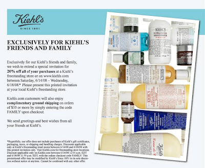 Kiehl%27s+Friends+and+Family Kiehls Friends and Family: 20% Off!!!